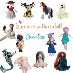 Along with the amazing doll makers I invite you to take a part in the #summerwithadollgiveaway To enter: 1. Like this photo of the giveaway. 2.Follow all dollmakers listed below @ahappycarrot @lambiland @therabbitsprojekt @amightydaisy @dreamlanddolly @mukla_doll @alsu_gafner @ama.moon.dolls @shylingsandghosts @joujoulittleworld @prettylittlebyterje @tillyandmedolls For an extra: - Tag three friends for three entries and repost this photo with hashtag #summerwithadollgiveaway for an extr...