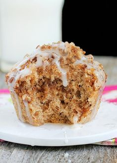 A single-serving coffee cake... But this one is much healthier than the mug cakes floating around on Pinterest!