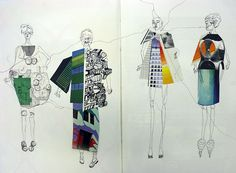 fashion illustration with loose pen and ink Fashion Illustration Collage, Illustration Mode, Fashion Collage, Fashion Prints, Fashion Art, Fashion Illustrations, Textiles Sketchbook, Fashion Design Sketchbook, Fashion Sketches