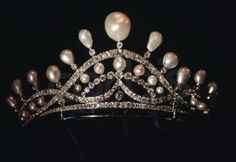 Tiara of the Countess of Paris, France (made by Chaumet; pearls, diamonds).