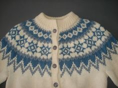 Vintage Dale of Norway Norwegian Knit Wool Cardigan Sweater Nordic Ski 40 | eBay