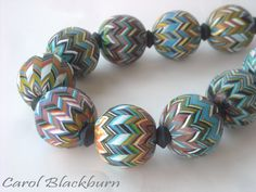 Necklace of hollow beads in Zig Zag pattern from my 'Chop & Change' workshop