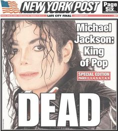 Michael Jackson is not here to give him voice. June Michael Jackson dies from cardiac arrest at his home in Los Angeles. Newspaper Front Pages, Newspaper Article, Old Newspaper, Michael Jackson, What Happened This Week, Front Page News, Newspaper Headlines, Headline News, The Jacksons
