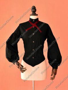 Victorian Edwardian Dickens Velvet Jacket Dress Theater Punk Clothing RED 166