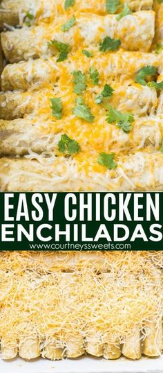 easy chicken enchilada recipe 30 minute meal This Easy Chicken Enchilada Recipe is a great quick and easy family dinner. Make the chicken breast ahead and use green chili enchilada sauce to save time! Easy Family Dinners, Quick Easy Meals, Easy 30 Minute Meals, Easy Chicken Recipes, Easy Dinner Recipes, 30 Minute Meals Chicken, Recipe Chicken, Yummy Recipes, Recipes