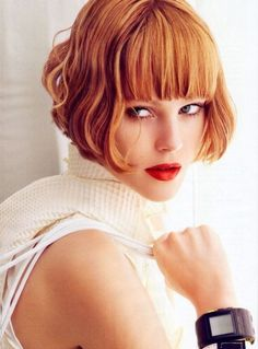love short hair with bangs. how i have been wearing my hair a lot lately, as it's growing out.