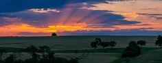 Puesta de sol en Loraine, Illinois.