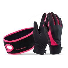 Small Lightweight Gloves with Touchscreen Fingers Black//hi-vis TrailHeads Running Gloves