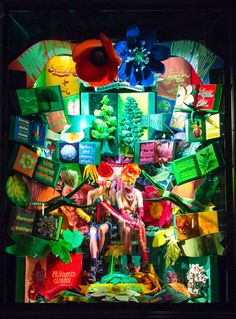 One of the window displays at Bergdorf Goodman during the 2017 holiday season