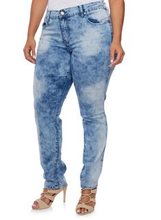 Plus Size VIP Skinny Jeans,LIGHT WASH
