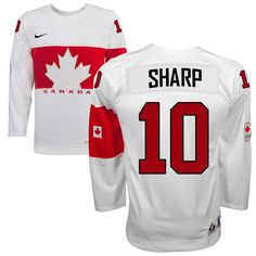 Team Canada 10 Patrick SHARP 2014 Winter Olympics Jersey - White