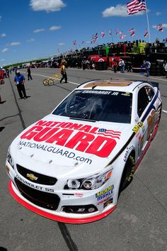 Dale Earnhardt Jr., driver of the #88 National Guard Chevrolet, drives in the garage area during practice for the NASCAR Sprint Cup Series Pocono 400 at Pocono Raceway on June 7, 2014 in Long Pond, Pennsylvania. http://www.pinterest.com/jr88rules/nascar-2014/ #DaleJr2014