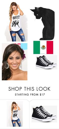 """""""Alyson"""" by stay-strongforever ❤ liked on Polyvore featuring Converse"""