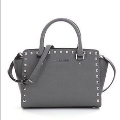 fbaaa7c006106 Michael Kors Selma Stud Satchel Medium In color steel grey. In brand new  condition.