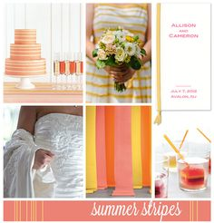 SummerStripes by finestationery, love these colors.