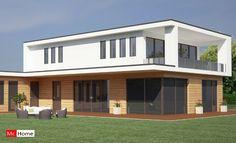 Mc-Home.nl M21 eigentijdse moderne villa met plat dak,  atelier of kantoor passief gebouwd in staalfram