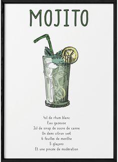 Cocktail And Mocktail, Cocktail Menu, Cocktail Recipes, Cocktails, Printable Kitchen Prints, Happy Drink, Food Drawing, Juice Smoothie, Menu Design