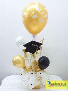Globos, Flores y Fiestas Graduation Crafts, Preschool Graduation, Graduation Decorations, Graduation Invitations, Party Table Decorations, Balloon Decorations, Graduation Celebration, Grad Parties, Balloons