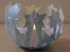 DIY Teelichthalter aus Papier