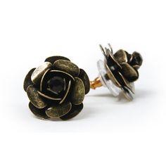 Betsey Johnson Metal Rose Earrings from LittleBlackBag.com