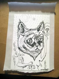 The WOMAN Cat sticker by VANESSAHHHHHH on Etsy, $5.00