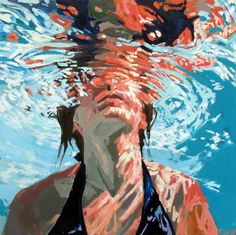 Beneath the Surface: Sublime Underwater Portraits by Samantha French swimming portraits painting Underwater Bubbles, Underwater Swimming, Underwater Painting, Portraits, Portrait Art, Art Alevel, Minnesota, Surface Art, Beneath The Surface
