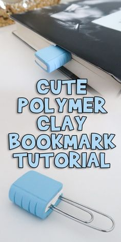 Most current Photo Polymer clay crafts for boys Strategies Cute Polymer Clay Bookmark Tutorial Polymer Clay Kawaii, Sculpey Clay, Polymer Clay Projects, Polymer Clay Charms, Polymer Clay Art, Polymer Clay Tutorials, Polymer Clay Animals, Clay Crafts For Kids, Kids Clay
