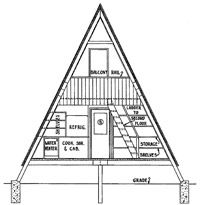 Free A-Frame Plans  but you might have to use a proxy;  someone doesn't want you to see