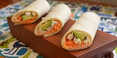 Hummus, Avocado, Chicken and Carrot Wrap