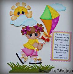 Elite 4U Chica cometa juntar las piezas de papel de Scrapbook página álbum frontera prefabricados wolffey 5 | eBay!