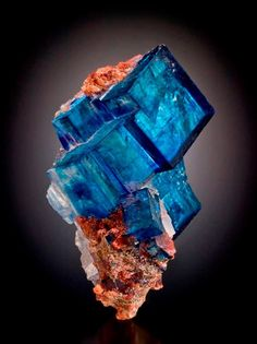 Blue halite cluster with minor sylvite. from Intrepid Potash East Mine, Carlsbad Potash District, Eddy Co., New Mexico, USA