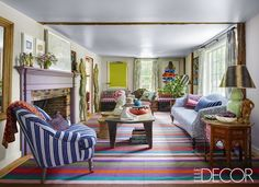 This Is By Far The Most Colorful Country Home We've Ever Seen - ELLEDecor.com