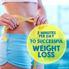 2 Minutes a Day to Weight Loss Success - Doing this one simple thing takes all of 2 minutes a day and pays off in a big way. #weightloss #healthy