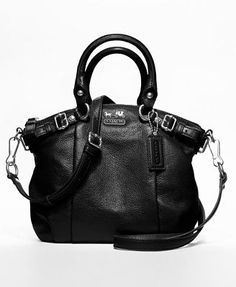 Coach Madison Mini Sophia Satchel: Darling little cross body bag with all the style of the big ones and which doesn't weigh you down.  #Handbag #Coach #Coach_Madison_Mini_Sophia_Satchel