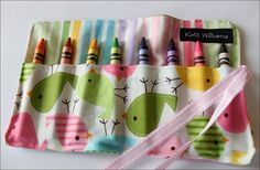 Pastel Peeps Mini Me Crayon Roll Organizer-8 Crayola Crayons Included-great Gift Or Party Favor