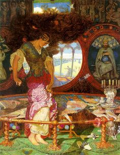 """The Lady of Shalott"" by William Holman Hunt (1889-92)"