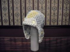 Child Size Aviator Hat Earflaps Up or Down by MarlowsGiftCottage, $23.00