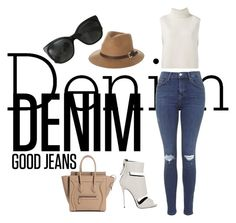 """""""good jeans"""" by clarepark ❤ liked on Polyvore featuring Topshop, Chanel, Rusty, Étoile Isabel Marant, Giuseppe Zanotti and falldenimtrend"""