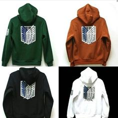 Animation Art & Characters Japanese, Anime Romantic Attack On Titan Shingeki No Kyojin Hoodie Black Green Jacket Costume Uk Seller