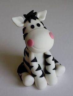 Resultado de imagem para zebra em biscuit passo a passo