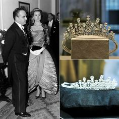 Princess Grace did not wear a tiara at her church ceremony to Prince Rainier III, but owned at least three in her lifetime