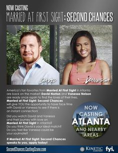 """Casting for """"Married At First Sight: SECOND CHANCES"""" Atlanta, GA 