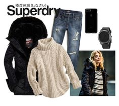 """""""The Cover Up – Jackets by Superdry: Contest Entry"""" by professionalfangirl2306 on Polyvore featuring Superdry, Hollister Co. and Michael Kors"""
