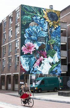 Fintan Magee Street Art in Arnhem, The Netherlands