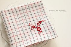 応用作品☆赤い芍薬のハンカチーフ の画像 Nui nui 生活 in TOKYO