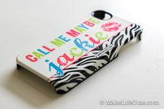 iPhone Case :: Personalized, Monogram  Zebra Girl Case for iPhone 4, 4s, or 5! :: by MakeLifeCute.com - #iphone #case #zebra #cute #zebraprint #iPhoneCase