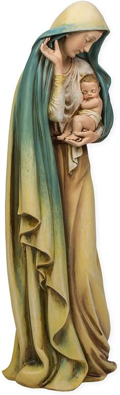 AmazonSmile: Madonna and Child Jesus Renaissance Collection 18 Inch Resin Stone Statue Figurine: Home & Kitchen Catholic Gifts, Religious Gifts, Stone Statues, Madonna And Child, She Was Beautiful, Cloud 9, Collectible Figurines, Renaissance, Resin