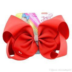 JoJo Siwa 8 Inch Pure Color Hair Bow With Alligator Clip Girl Kids Bowknot red Jojo Hair Bows, Easy Hair Bows, Large Hair Bows, Ribbon Hair Bows, Girl Hair Bows, Bow Hair Clips, Jojo Siwa, Flower Hair Band, Girls Accessories