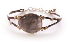 Yasuko Azuma - grey quartz bracelet