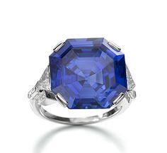 15.08 carats of Asscher-cut Bulgari sapphire